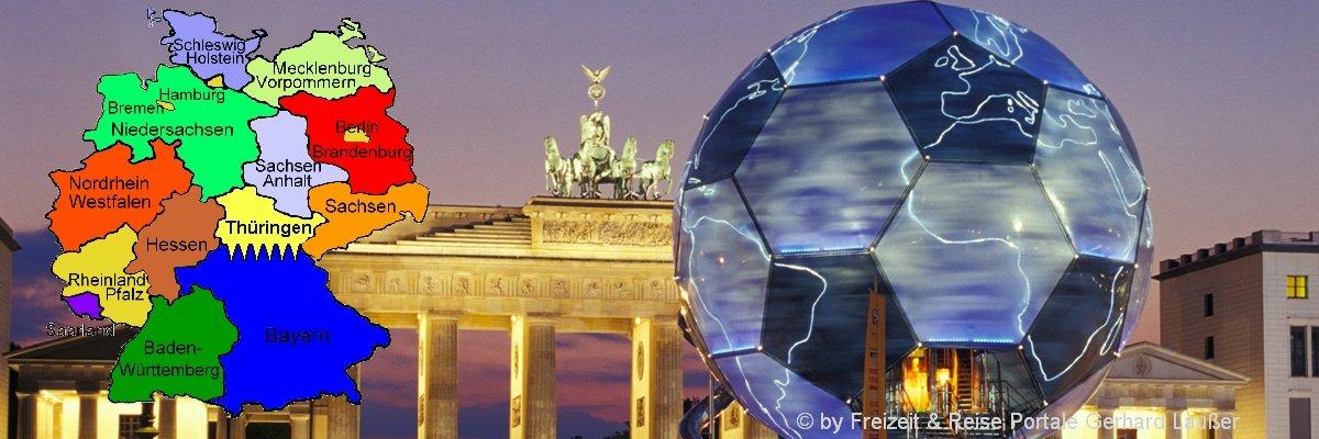 beliebteste Reiseziele in Deutschland